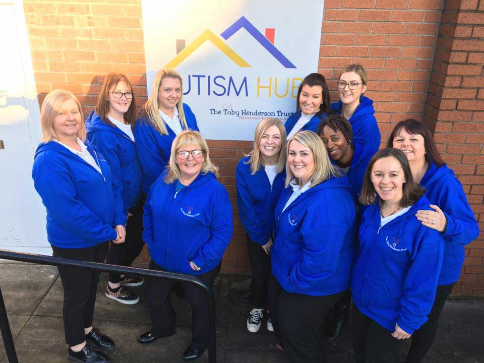 Team Toby outside the Autism Hub